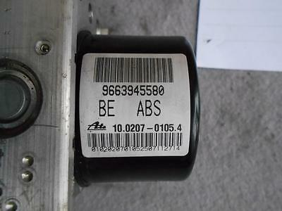 Peugeot 207 Citroen C2 C3 Abs Pump 9663945580 10.0207-0105.4 Ecu: 10.0970-1146.3