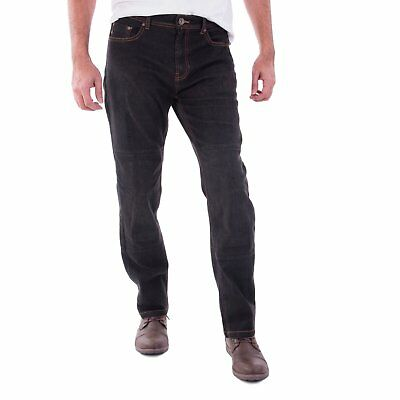 Men's motorbike motorcycle denim trousers jeans with protective lining