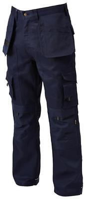 Apache Holster Black Industrial Cargo Work Trousers Safety + Free Knee Pads