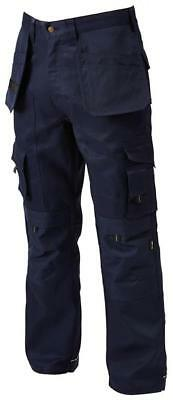 Apache Holster Black Industrial Cargo Work Trousers + Free Knee Pads