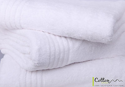 Wholesale Egyptian Cotton Striped Border Hand Towels Pack of 6/12 - Bulk Buy