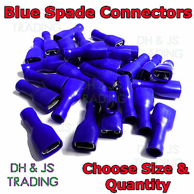 Blue Fully Insulated Female Spade Terminals Crimp Connector Electrical Terminal