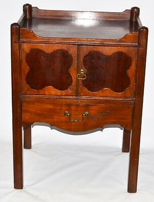 Antique George III Mahogany Tray Top  Bedside commode - FREE Delivery [PL2240]