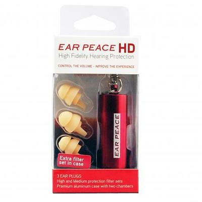 Ear Peace HD Hearing Protection Variable Attenuation 3 plugs + 6 filters