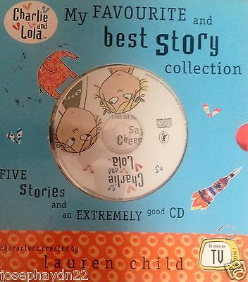 NEW BOX x 5 books & CD  CHARLIE AND LOLA my FAVOURITE and BEST STORY COLLECTION