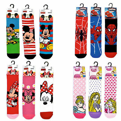 Disney Mickey Minnie Mouse Spider Princess Standard Socks