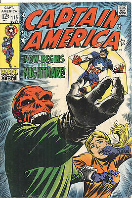 CAPTAIN AMERICA #115 COMIC BOOK (12 cents) VERY GOOD