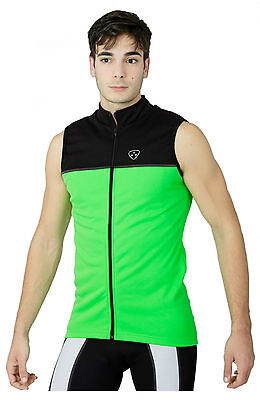 Cycling Jacket Sleeveless Highly Visible Hi Viz Waterproof Running Horse Riding