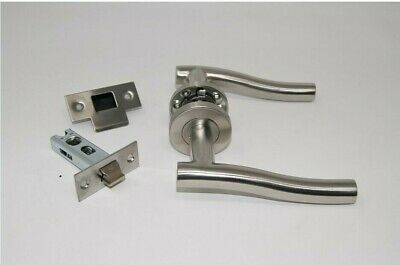 5 X Stainless Wave Door Handle Pack (Latch Set)