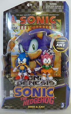 SONIC & AMY Sonic The Hedgehog 20th Ann. Classic Comic Book 2-pack Figures 2011