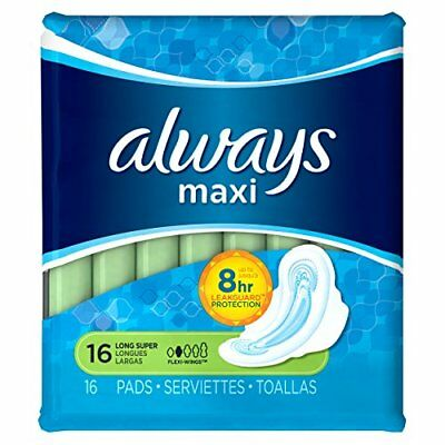 4 Pack - Always Maxi Pads Super With Flexi-Wings Unscented 16 Each
