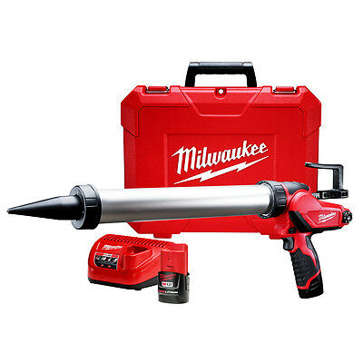 Milwaukee 2442-21 M12 12V 20Oz. Aluminum Caulk And Adhesive Gun with Batteries