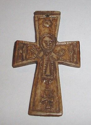 Ancient Byzantine Empire, 8th - 10th c. AD. Crucifix, Cross, Pendant