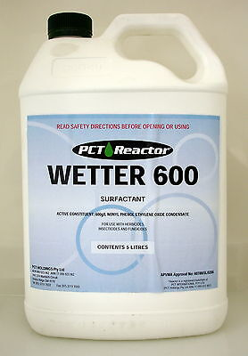 REACTOR WETTER 600 SURFACTANT / WETTING AGENT 5 Litre (equiv. Agral)