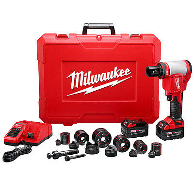 Milwaukee 2676-22 M18 18-Volt 10 Ton Knockout Tool 1/2-Inch To 2-Inch Kit