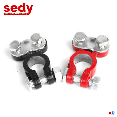 2x Universal Positive Negative Car Battery Terminal Clamp Clip Connector 12V 6V