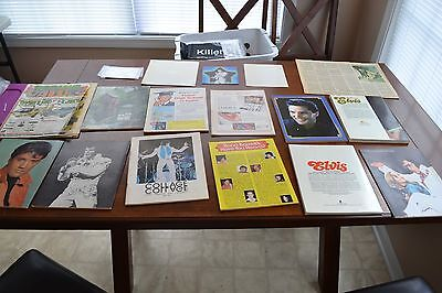 (17 PIECE) VINTAGE Elvis COLLECTION Magazines Posters Photo Ads