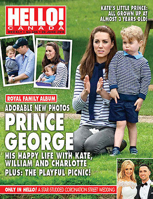 Hello Canada Magazine 2016 June Prince George Kate William  #506 Brand New