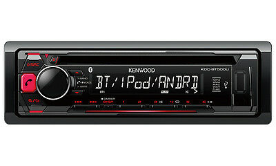 Kenwood KDC-BT500U Bluetooth USB CD Car Stereo  with GEN KENWOOD WARR