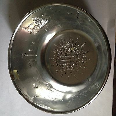 Holy Water Bowl  Vintage Church Glass