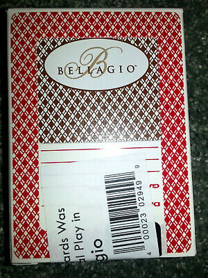 Deck of BELLAGIO PLAYING CARDS Used In Casino LAS VEGAS Aristocrat RED & BROWN