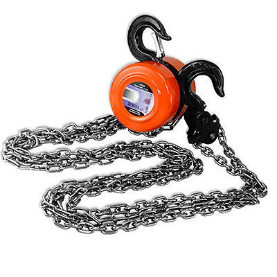 1 TON Chain Hoist 2000pd Capacity Winch Engine Lift Hoists Rigging System BIN 8'