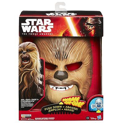 Star Wars The Force Awakens Chewbacca Electronic Mask - New, Free Shipping