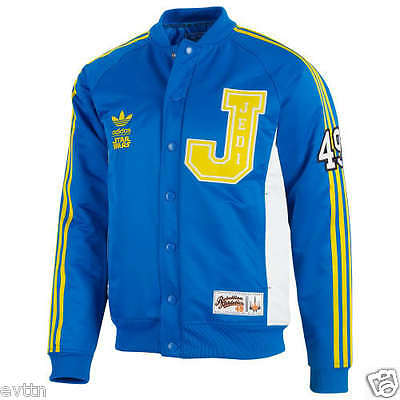 %adidas Originals Star Wars Jedi Blue Track Bomber Jacket
