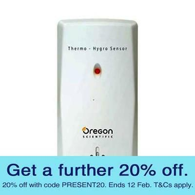Oregon THGN132N Temperature and Humidity Sensor with GEN OREGON WARR