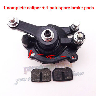Rear Disc Brake Caliper Pads For Mini Moto Scooter ATV Dirt Pocket 47cc 49cc