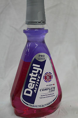 Dentyl Mouthwash Plaque Fighter Icy Cherry 500ml, Dental Rinse,