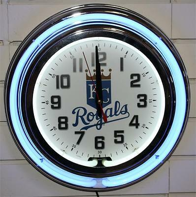 Kansas City Royals Clock Neon New.