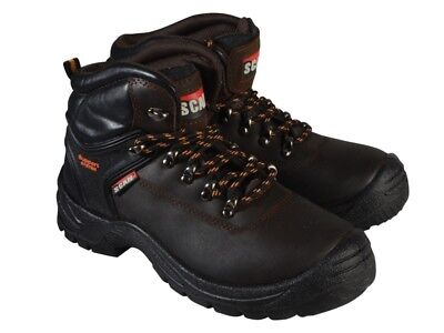 Scan SCAFWLYNX11 Lynx Brown Safety Boots S1P UK 11 Euro 46