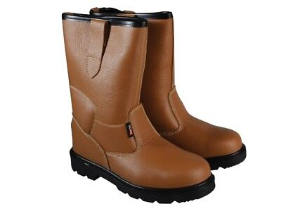 Scan SCAFWTEXAS7 Texas Dual Density Lined Rigger Boots Tan UK 7 Euro 41