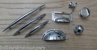 Polished Chrome Kitchen Cabinet Cupboard Drawer Door Fittings