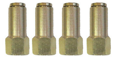 """Air Suspension System 4 Brass Fittings 1/4""""NPT Female to 1/4"""" Air Hose Push In"""