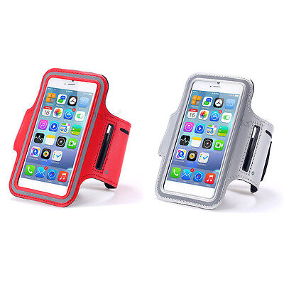 Lot 2 Brassards Sport Telephone Rouge + Argenté Pour Apple Iphone 6 6S