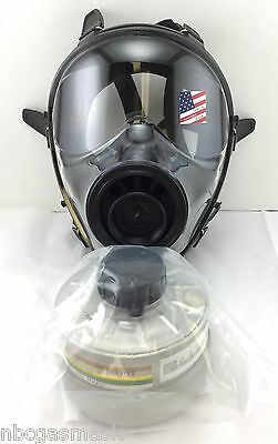 40mm SGE 150 Gas Mask w/Military-Grade NBC/CBRN Filter - Brand New, Exp 2022 NIB