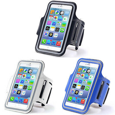 Lot 3 Brassards Sport Telephone Bleu + Blanc + Noir Pour Apple Iphone 6 6S