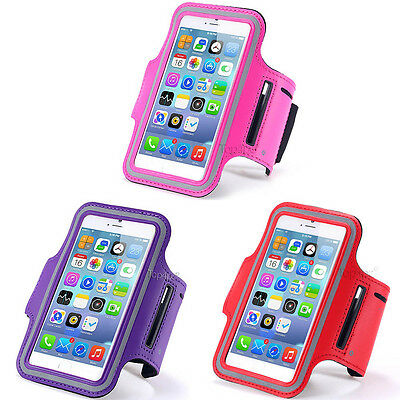 Lot 3 Brassards Sport Telephone Rose + Violet + Rouge Pour Apple Iphone 6 6S