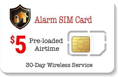 $5 Alarm SIM Card for GSM Home Security Alarm System + GPS Tracker