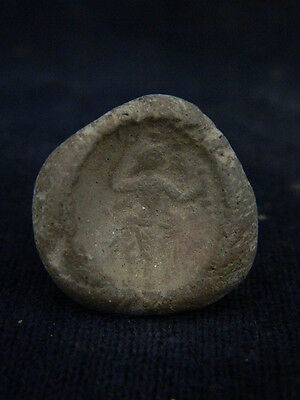 Ancient Teracotta Seal Bactrian 300 BC   #TR347