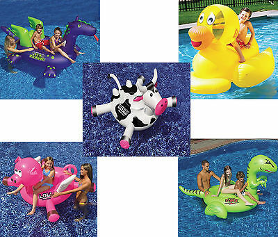 Swimline Rideable Inflatable Swimming Pool Floats Giant Animals Raft Toy Float