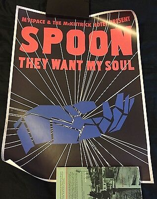 "Spoon - They Want My Soul - McKittrick Hotel Gig Poster 8/3/14 New York 16""x20"""