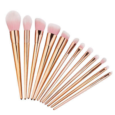 12pcs Pro Makeup Brushes Set Powder Foundation Eyeshadow Eyeliner Lip Brush Tool
