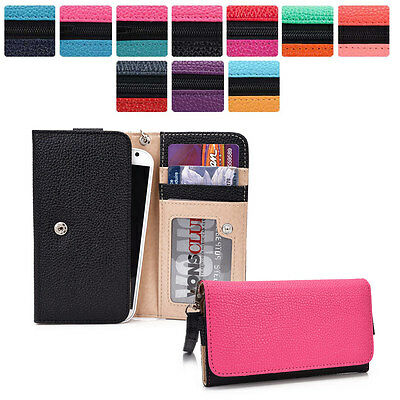Protective Wallet Case Clutch Cover & Organizer for Smart-Phones KroO ESMT34