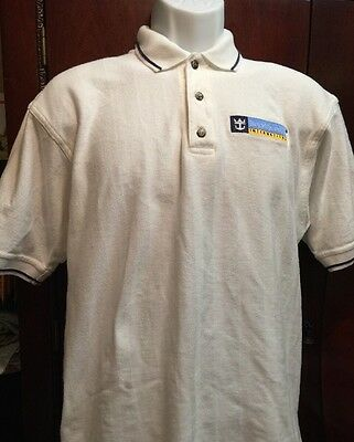 Royal Caribbean International Cruise Polo Golf White SHIRT Men Size-M Medium