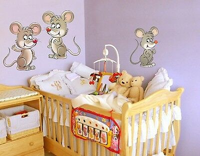 Wall Decal no.73 Mouse Set