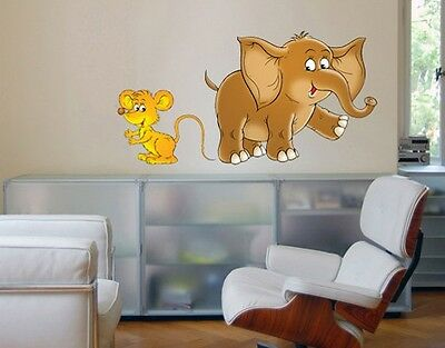 Wall Decal no.67 Mouse & Elephant