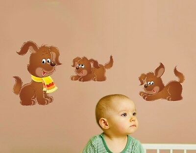 Wall Decal no.72 Little Dog Set